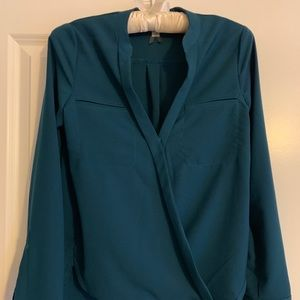 Teal Blouse from Dynamite.